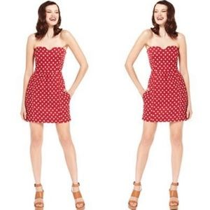 RACHEL Rachel Roy 2 Red Star Strapless Dress